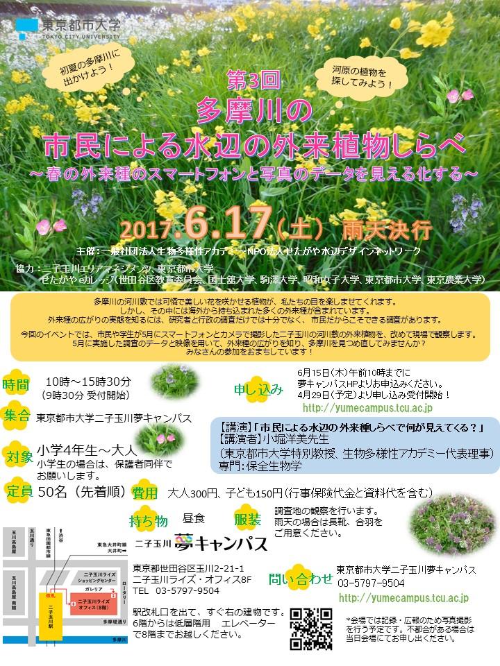 【web掲載用】6月17日初夏の多摩川ポスターとチラシ